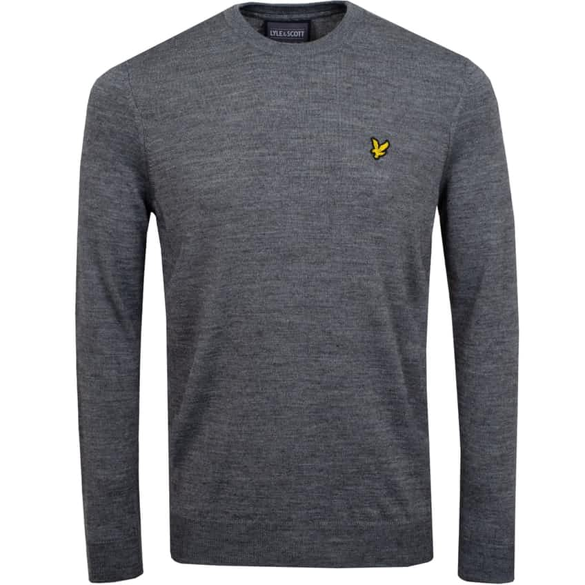 Crew Neck Pullover Mid Grey Marl - AW20