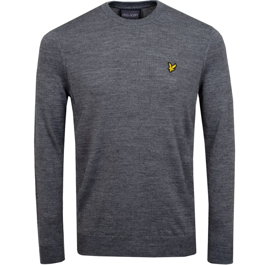 Crew Neck Pullover Mid Grey Marl - AW20 0