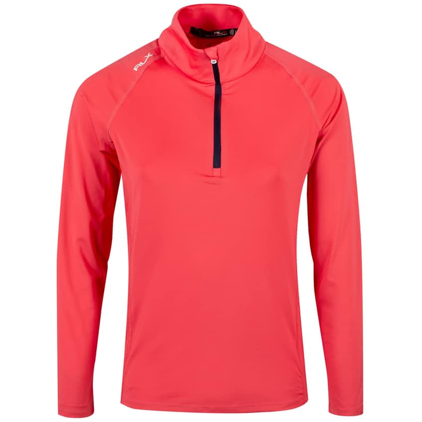 Womens UV Quarter Zip Long Sleeve Peaceful Coral - SS20