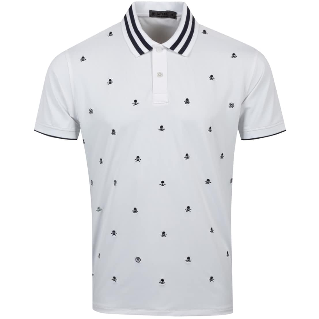 Skull & T's Embroidered Polo Snow - AW20