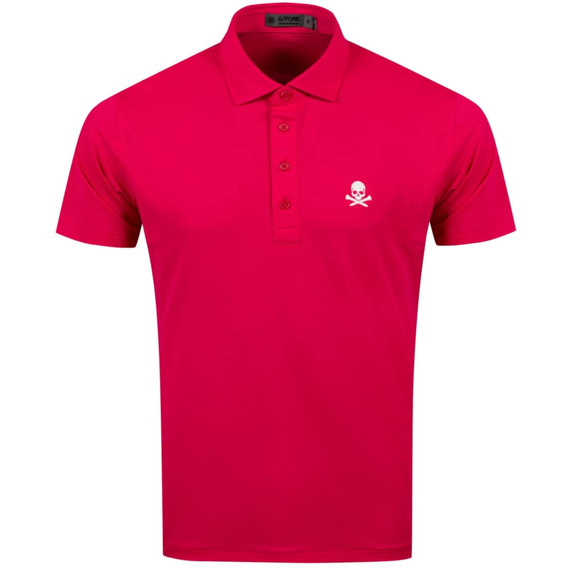 x TRENDYGOLF Skull Pique Polo Bright Rose - AW20