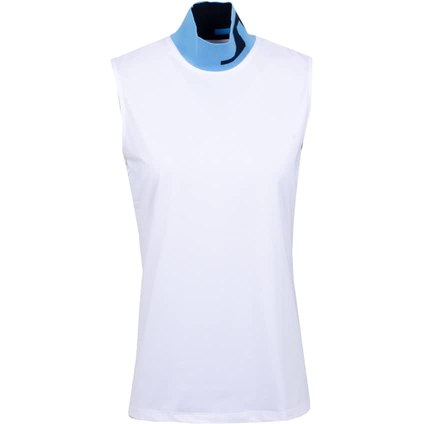 Womens Lou Sleeveless Soft Compression White - AW20