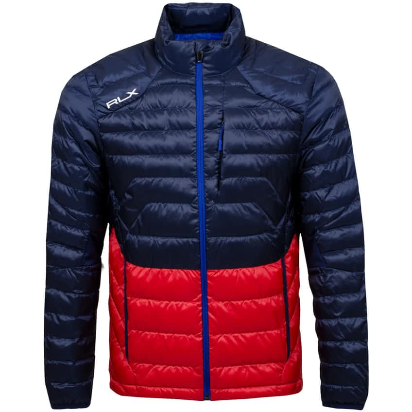 Pivot Down Jacket French Navy/Sunrise Red - AW20