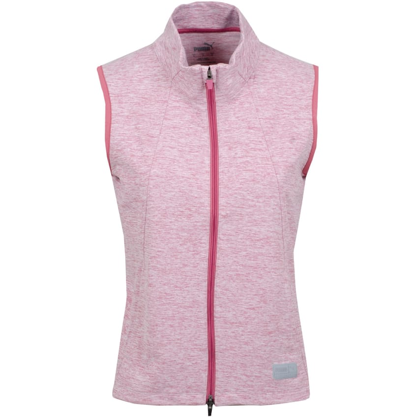 Womens Cloudspun Warm Up Vest Rose Wine Heather