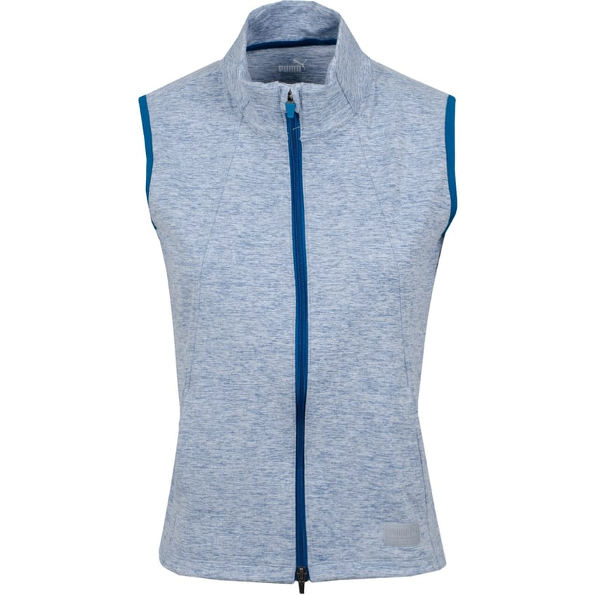 Womens Cloudspun Warm Up Vest Digi-Blue Heather