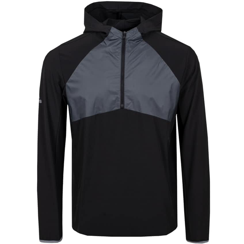 Statement Packable Quarter Zip Wind Jacket Black - AW20