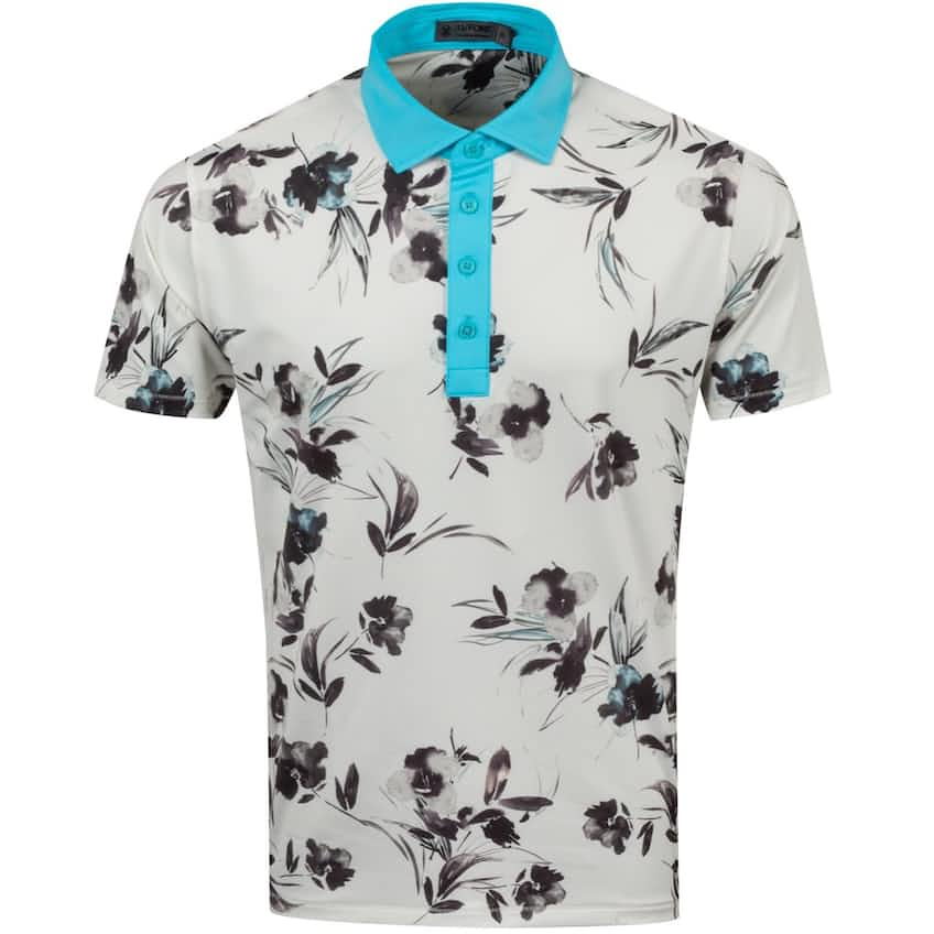 Watercolour Floral Polo Snow - AW20