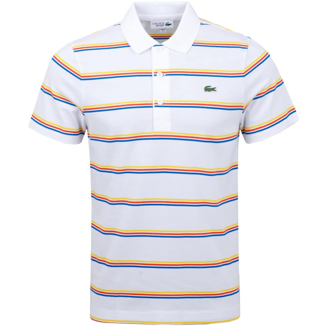 Triple Stripe Polo White/Ultramarine/Glaieul - AW20