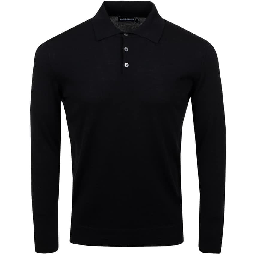 Noel Silk Wool Mix Polo Shirt Black - AW20