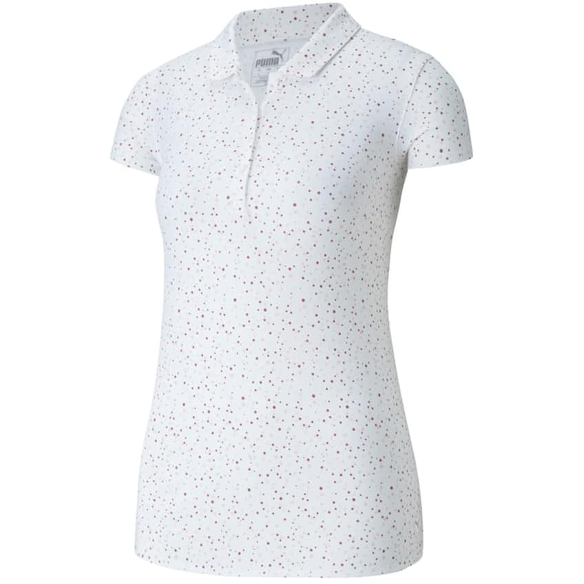 Womens Speckle Dot Polo Bright White - AW20