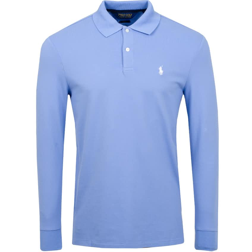 Stretch Mesh Pro Fit Long Sleeve Polo Fall Blue - AW20