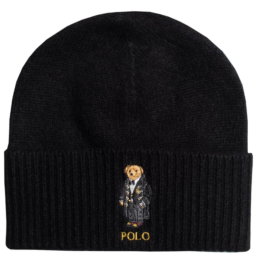 Holiday Cashmere Brim Beanie Black - AW20