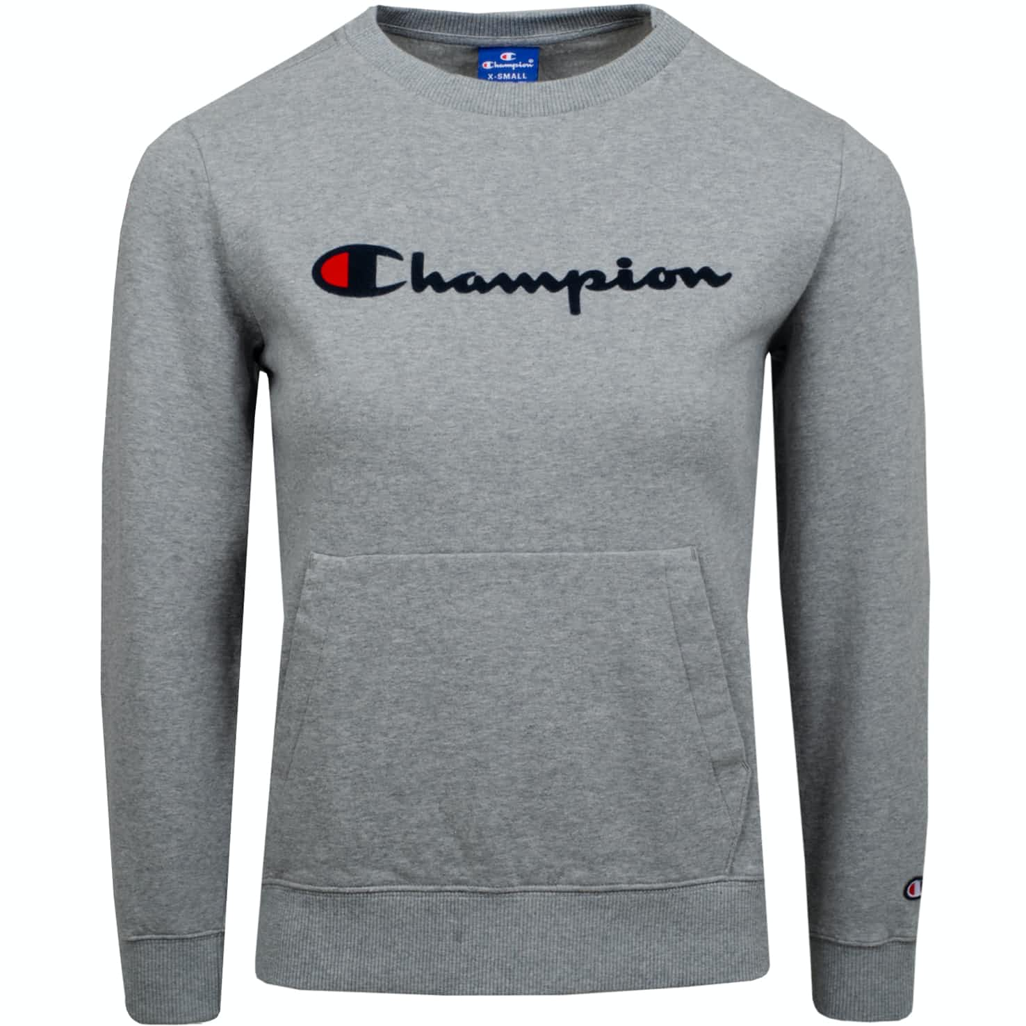 Womens Logo Crew Neck Sweatshirt Grey Melange