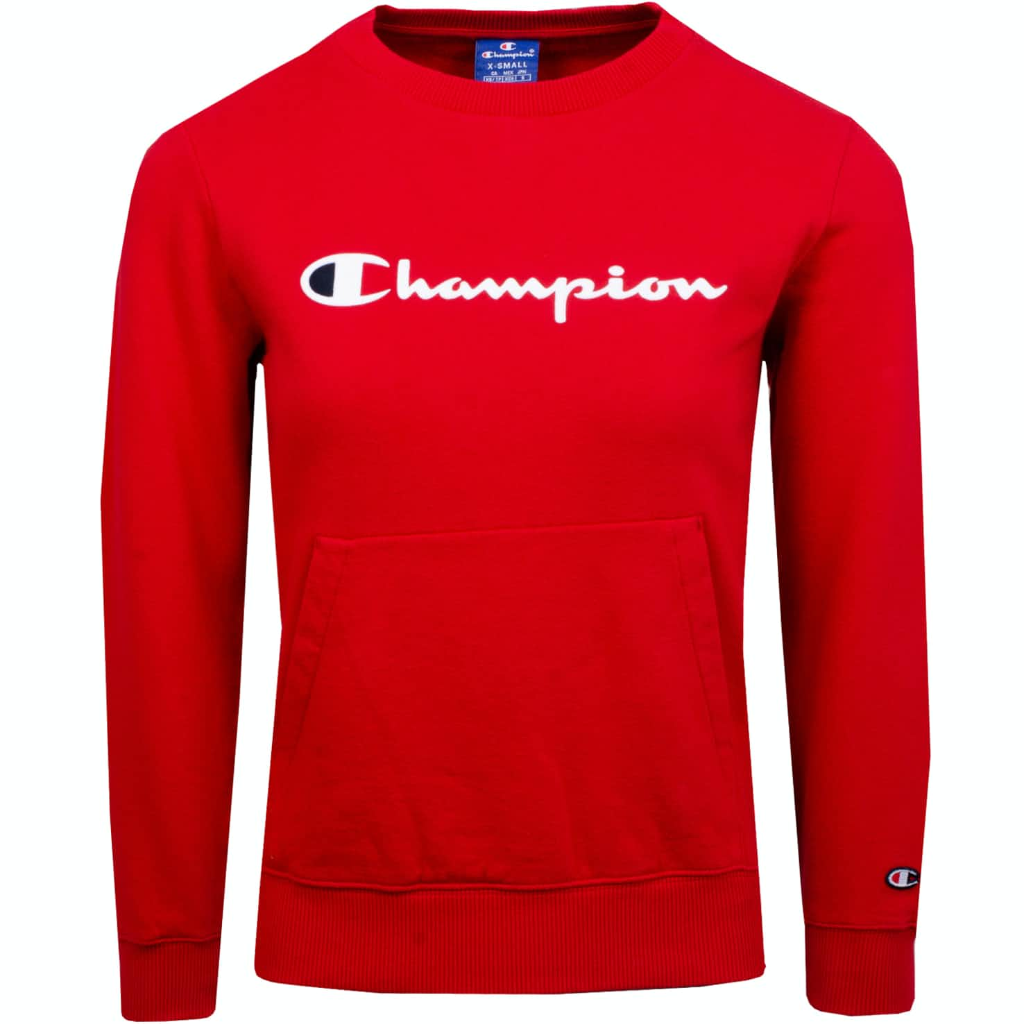 Womens Logo Crew Neck Sweatshirt Red
