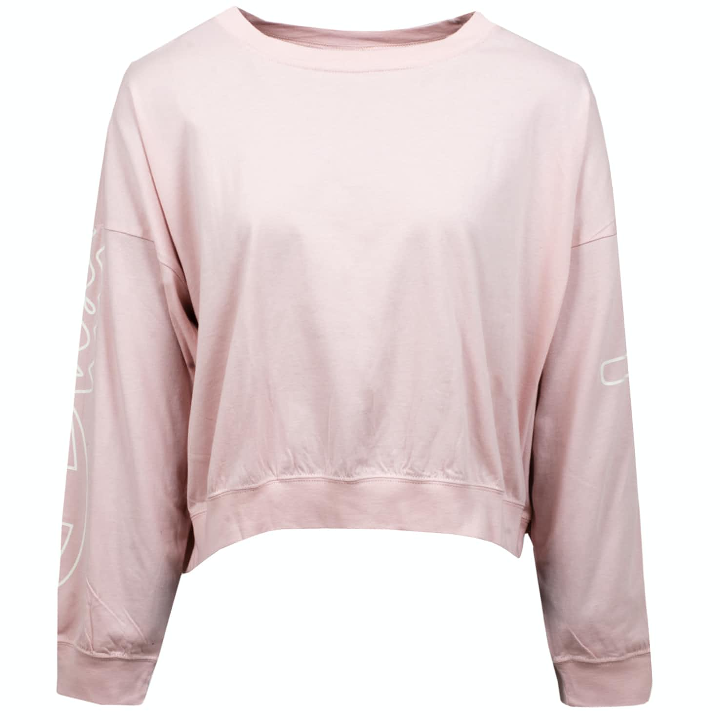Womens LS Crew Neck Sweatshirt Light Pink