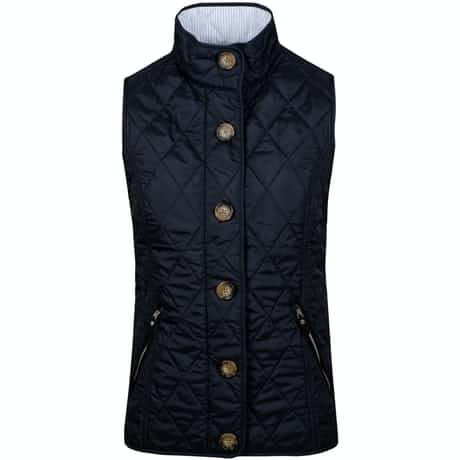 Womens Heritage Quilted Vest Polo Black - SS19