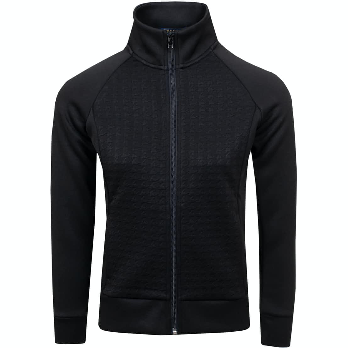Womens LS Quilted Jersey Polo Black - SS19