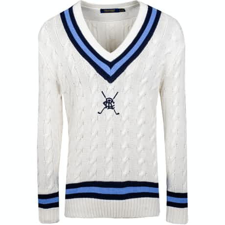 Womens Cricket Sweater Cream Multi - SS19