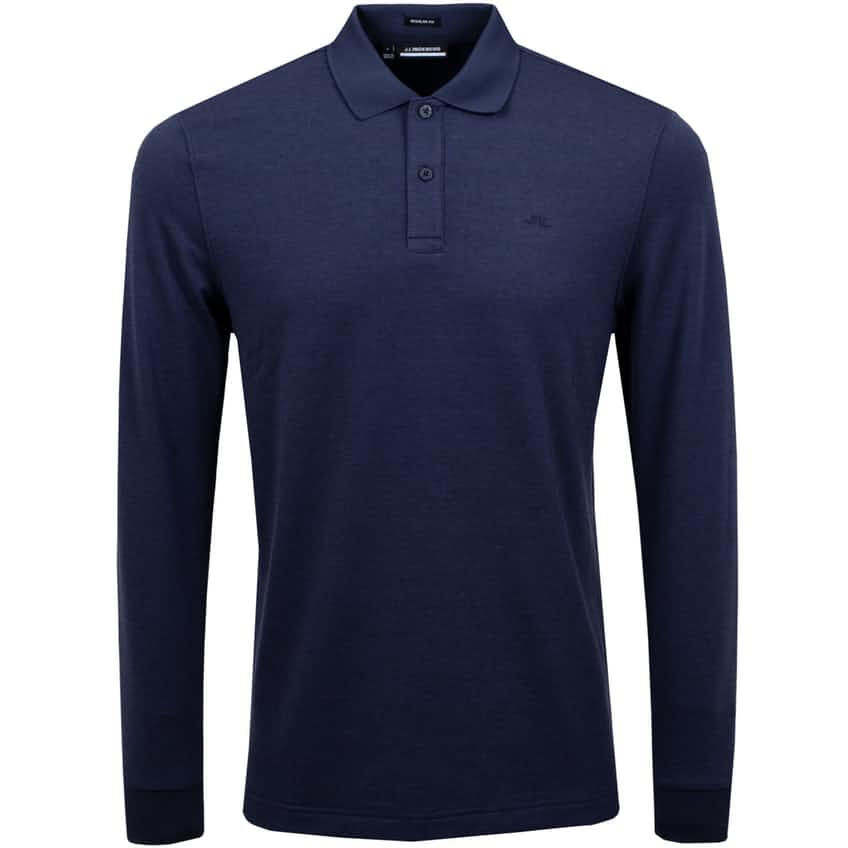 Ian LS Regular Fit Wool Blend Jersey Navy Melange - AW20