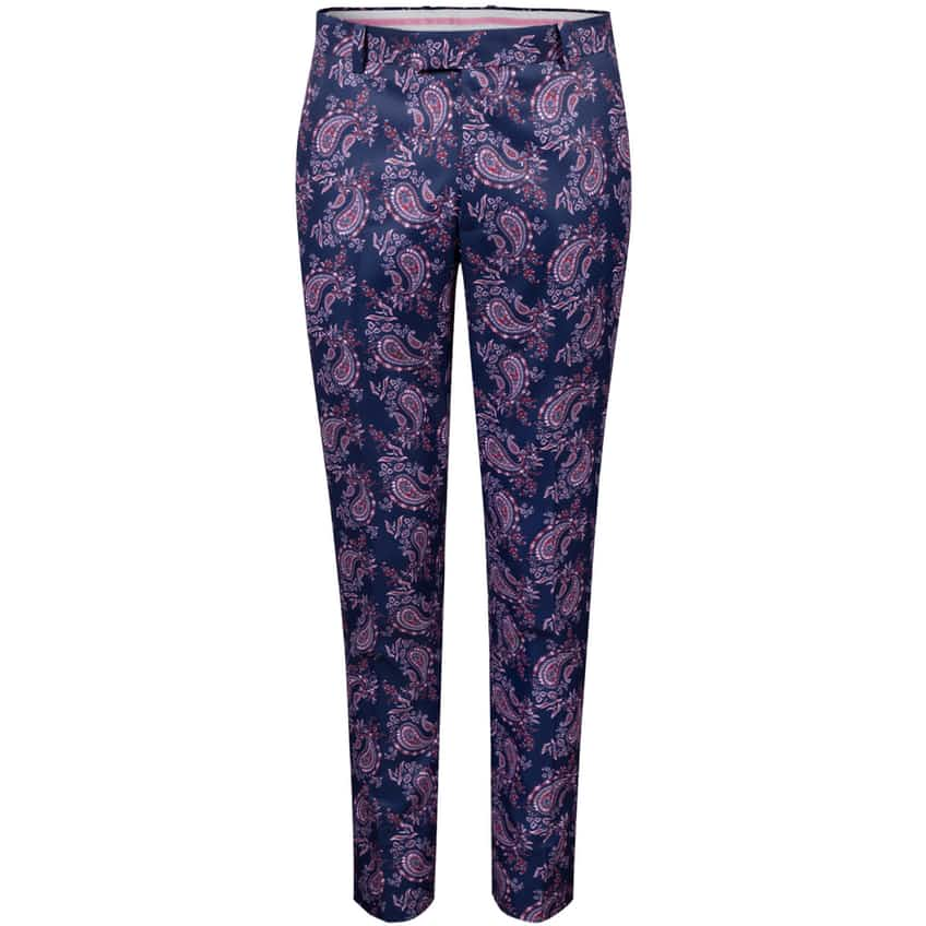 Printed Paisley Straight Leg Trouser Twilight - SS21