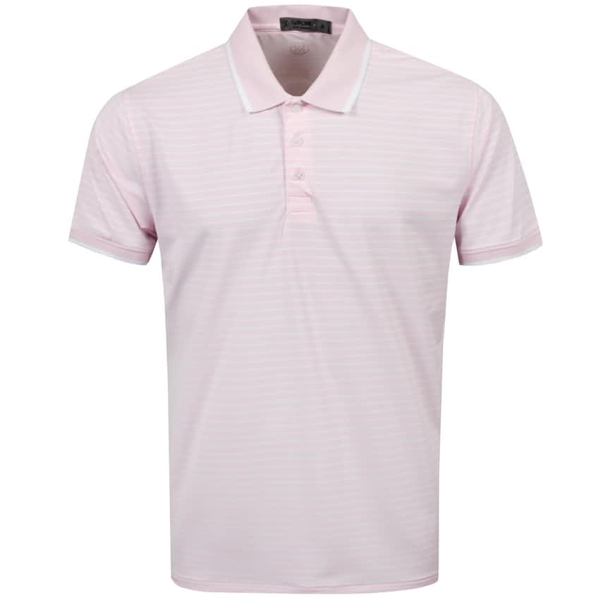 Perforated Wide Stripe Polo Blush - SS21