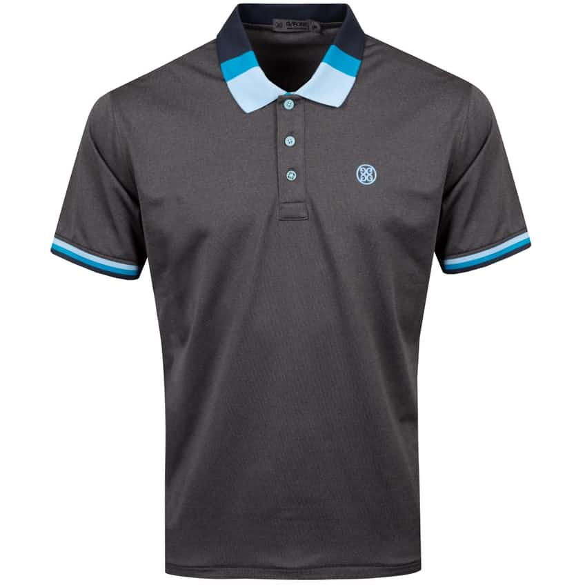 Tricolour Polo Charcoal Heather Grey - SS21