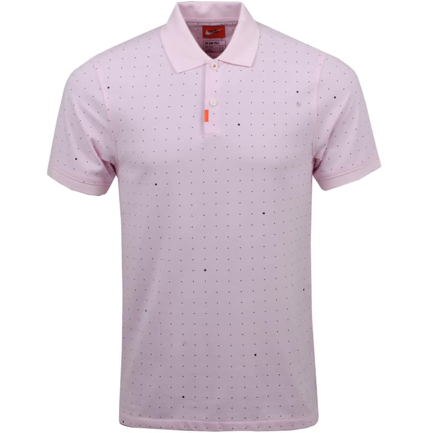 The Golf Slim Space Dot Polo Pink Foam - SS21