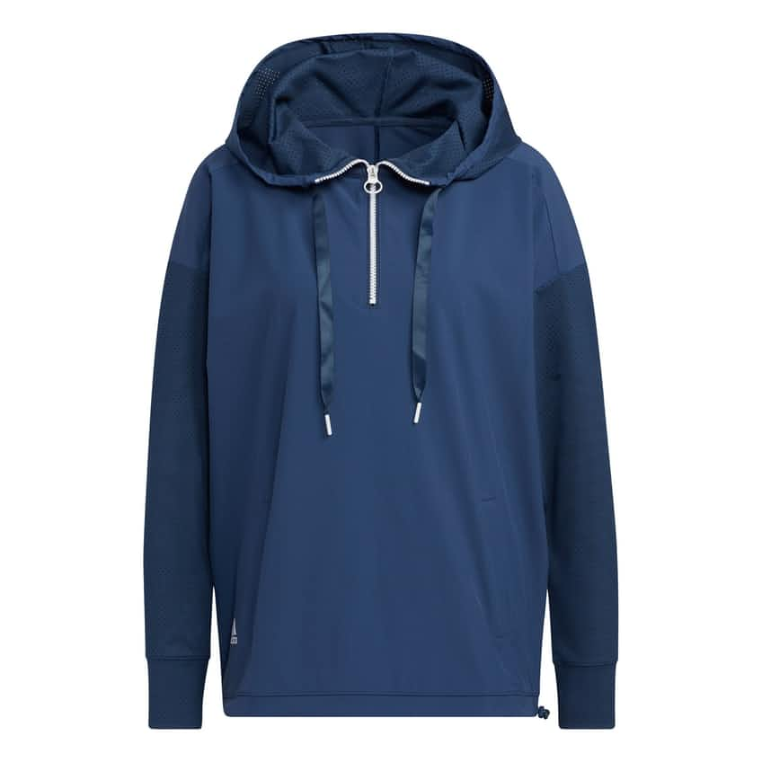 Womens Perforated Hoody Layer Crew Navy - SS21