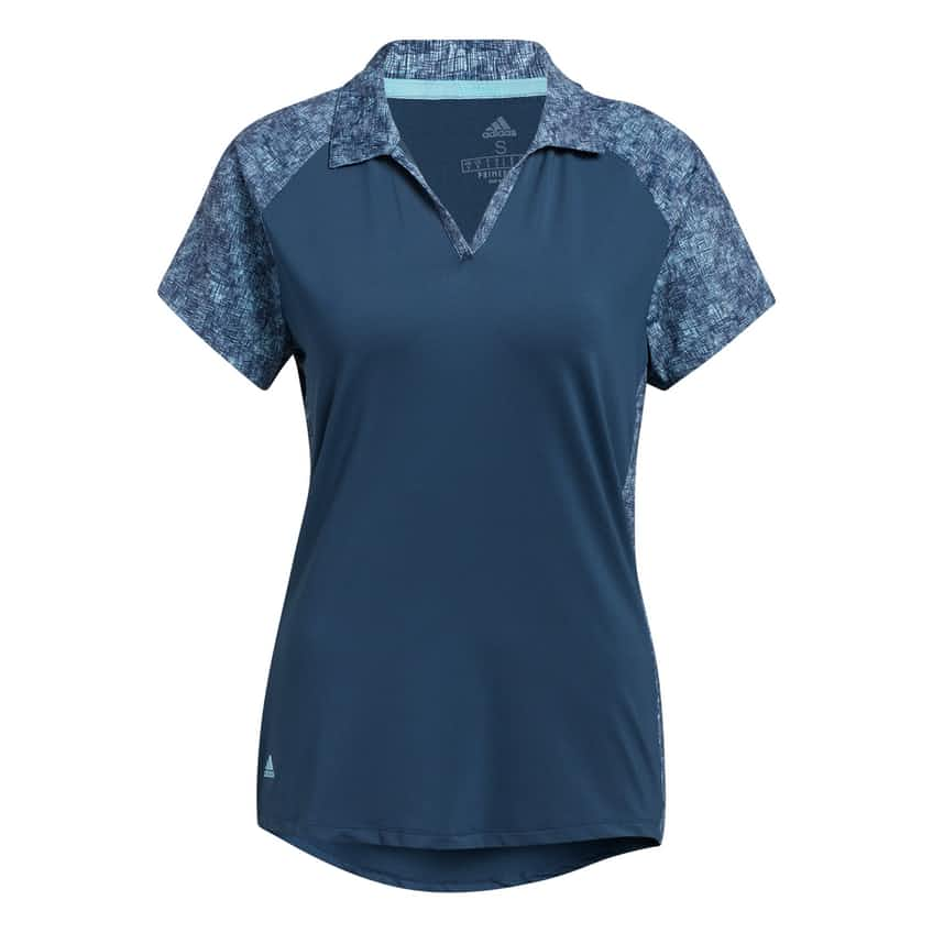 Womens Ultimate 365 Printed Polo Crew Navy - SS21