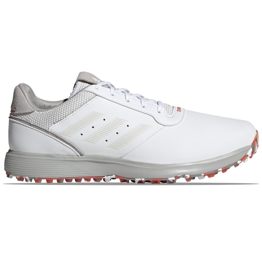 S2G Spikeless Leather Shoe White/Grey/Crew Red - 2021 0