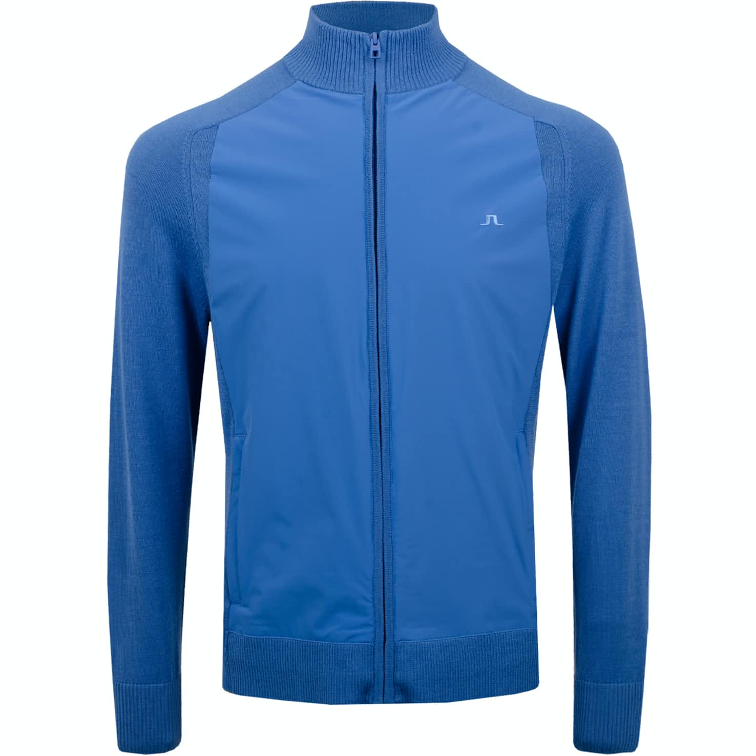 Knitted Hybrid Jacket Lux Softshell Work Blue - SS19