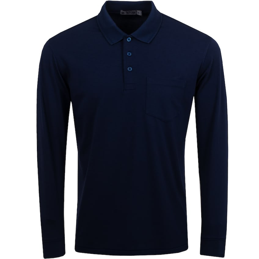 Lux Staple Long Sleeve Polo Twilight - SS21