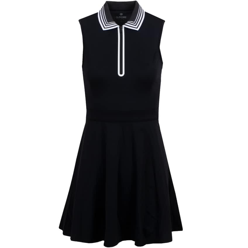Womens Featherweight Sleeveless Zip Dress Onyx - SS21