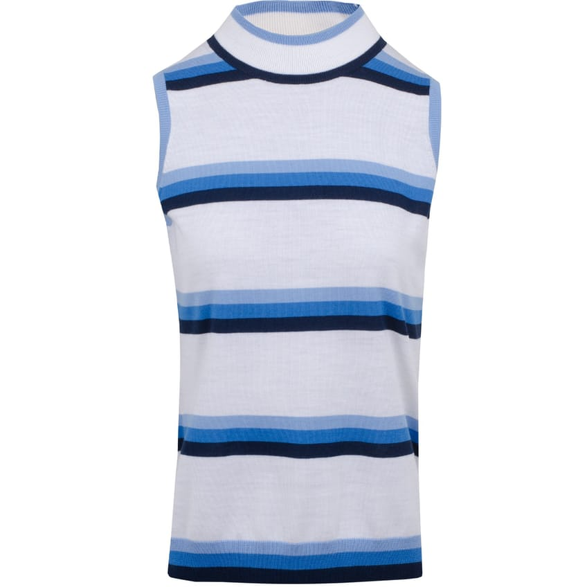 Womens Sleeveless Striped Mock Snow - SS21