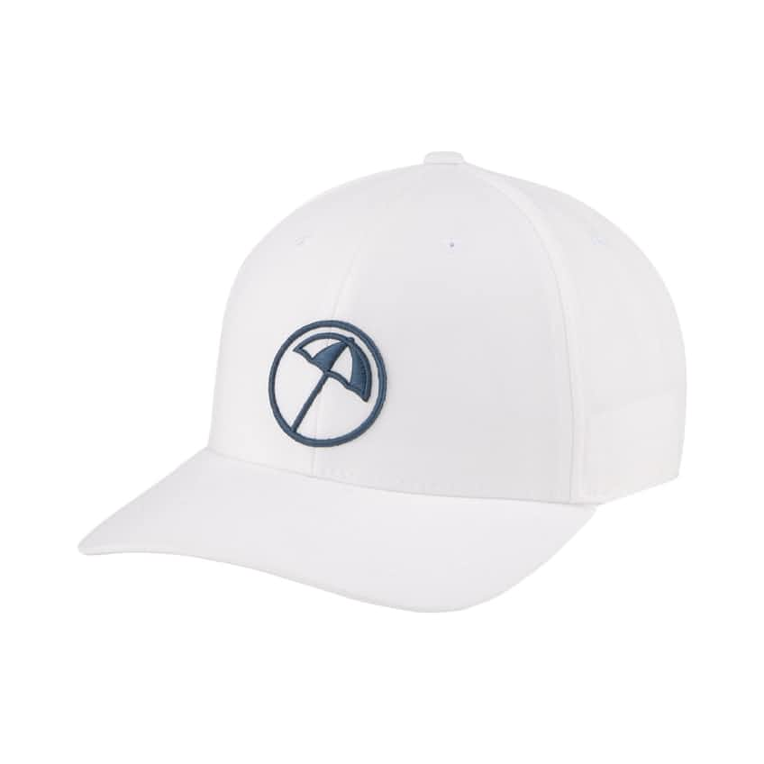 AP Circle Umbrella Snapback Cap Bright White/Legion Blue - SS21