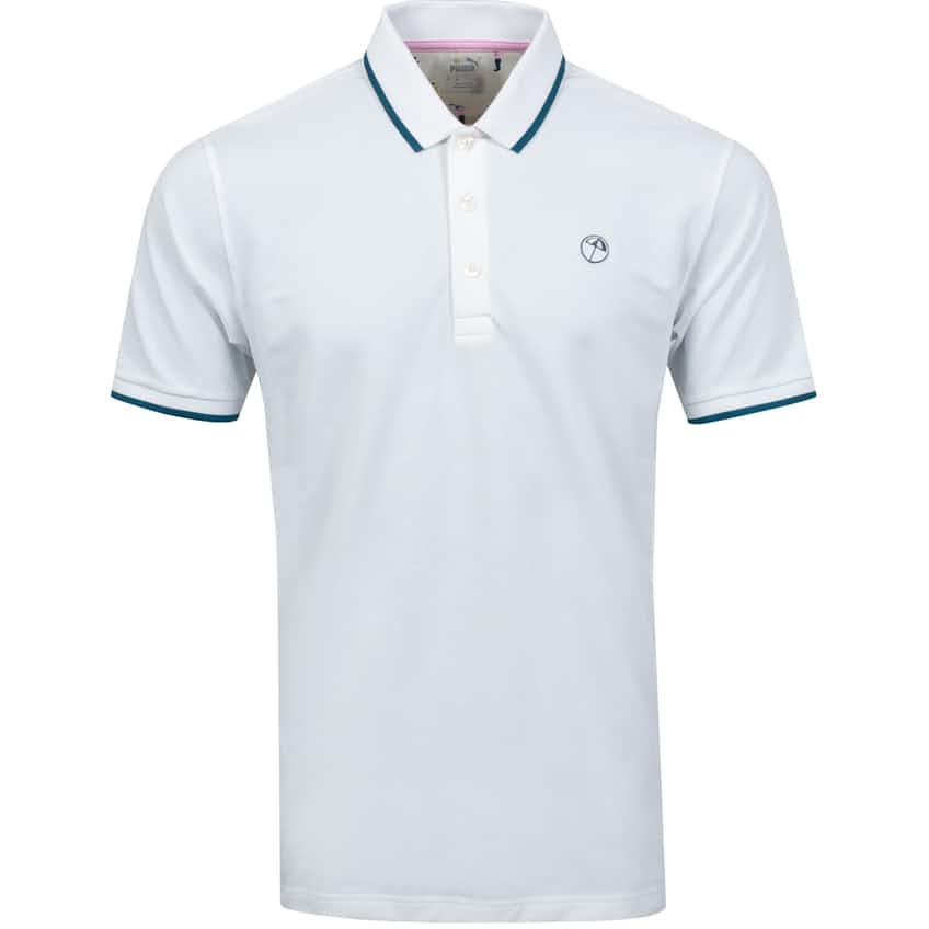 Signature Tipped Polo Bright White - SS21