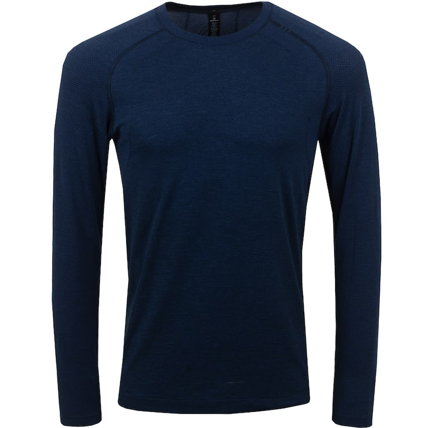 x TRENDYGOLF Metal Vent Tech Long Sleeve 2.0 Mineral Blue/True Navy - SS21