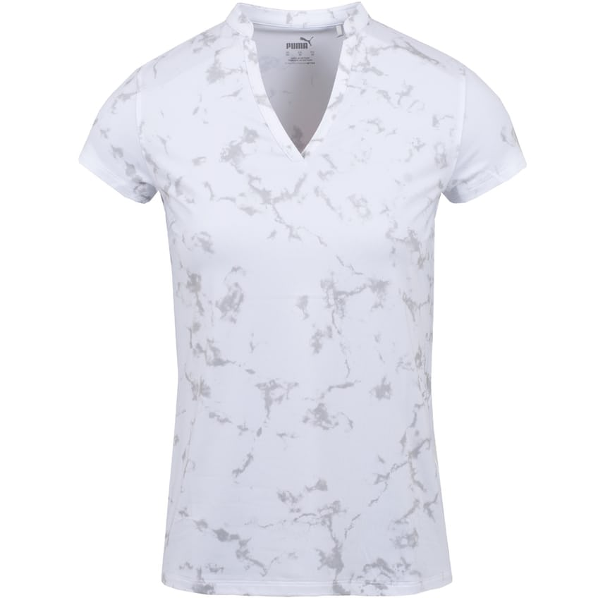 Womens Cloudspun Marble Polo Bright White - SS21