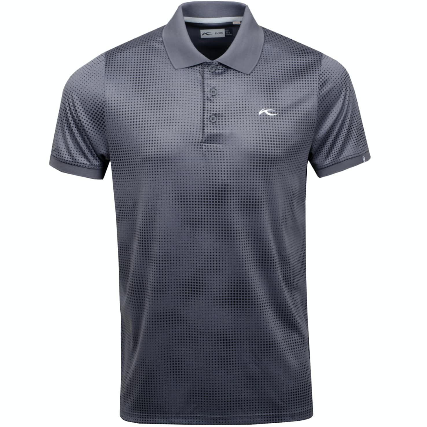 Spot Printed Polo Steel Grey - SS19