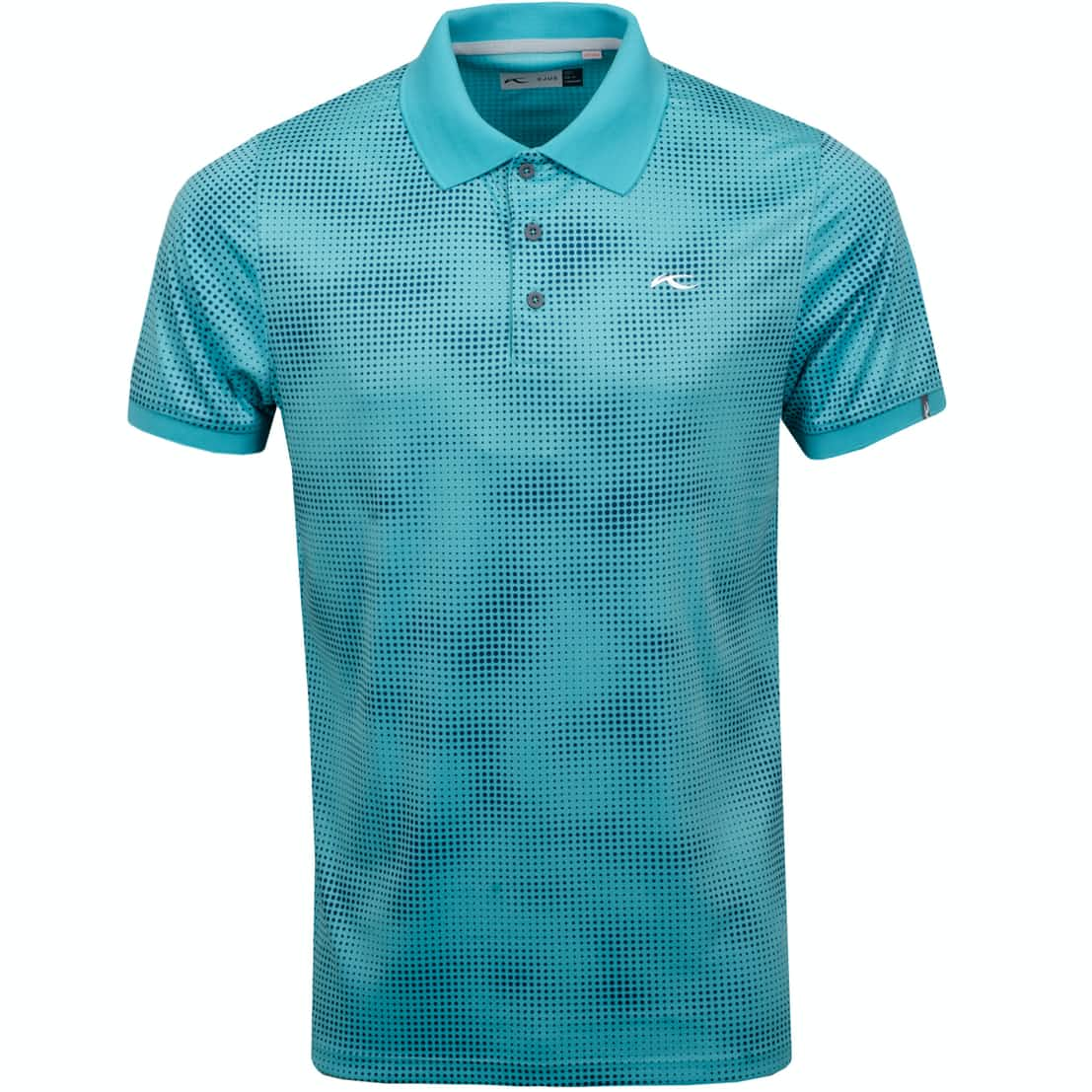 Spot Printed Polo Blue Turquoise - SS19