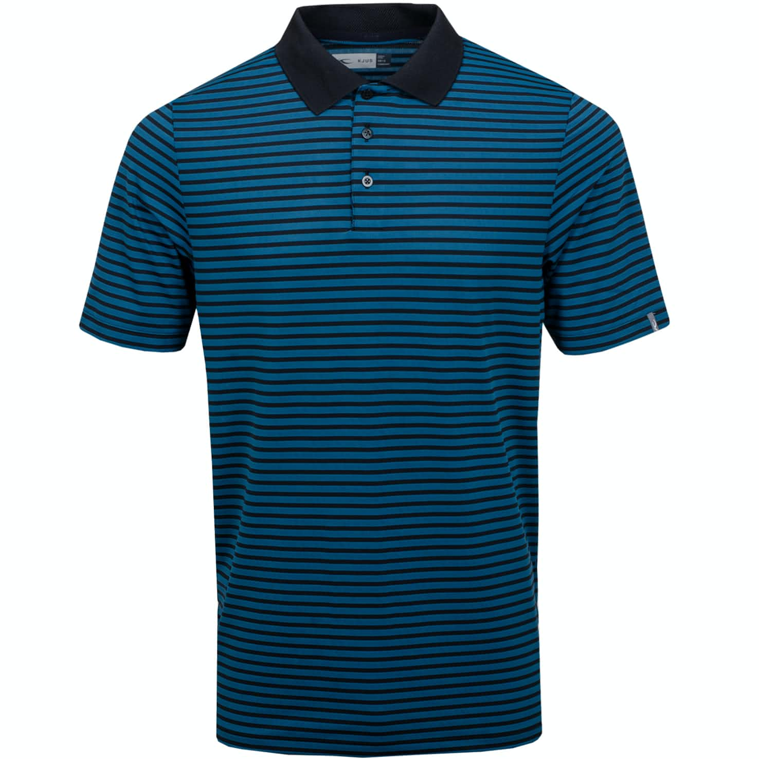 Luis Stripe Polo Deep Dive/Black - SS19