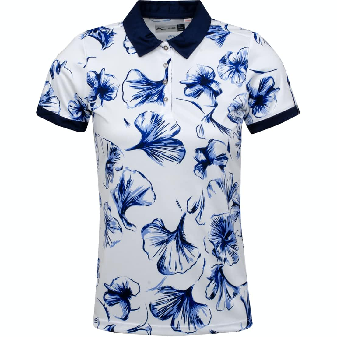 Womens Enya Printed Polo White - SS19