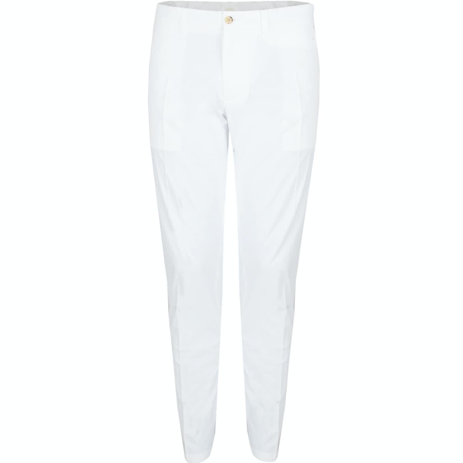 Elof Tight Fit Light Poly Trousers White - SS19