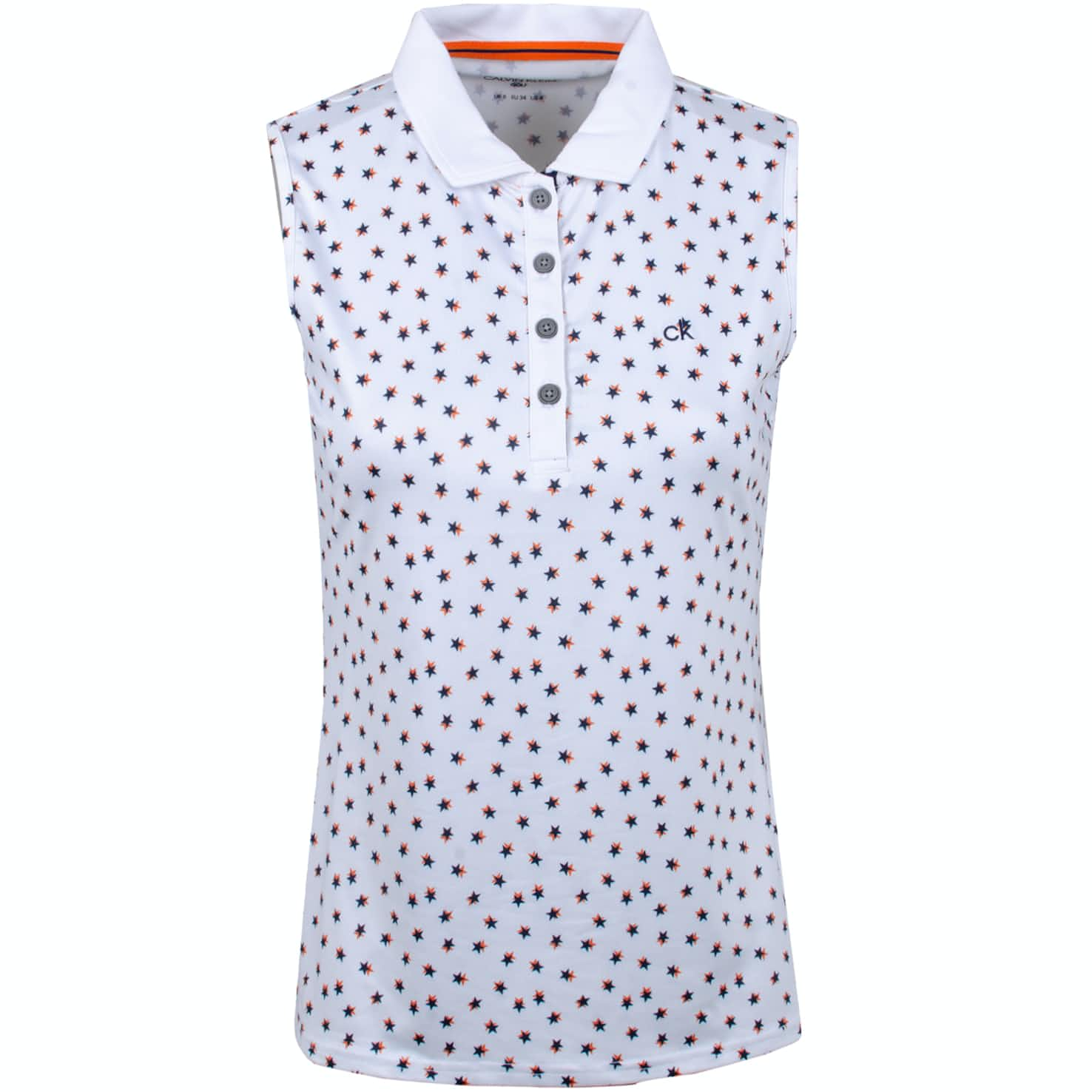 Womens Americana SL Polo White/Bright Navy - SS19