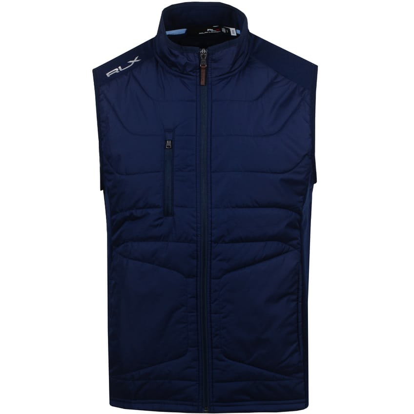 Cool Wool Full Zip Vest French Navy - SS21
