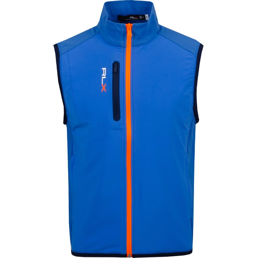 Tech Terry Full Zip Vest Colby Blue - SS21