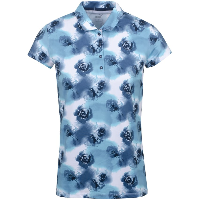 Womens Cloudspun Watercolor Floral Polo Navy Blazer/Scuba Blue - SS21
