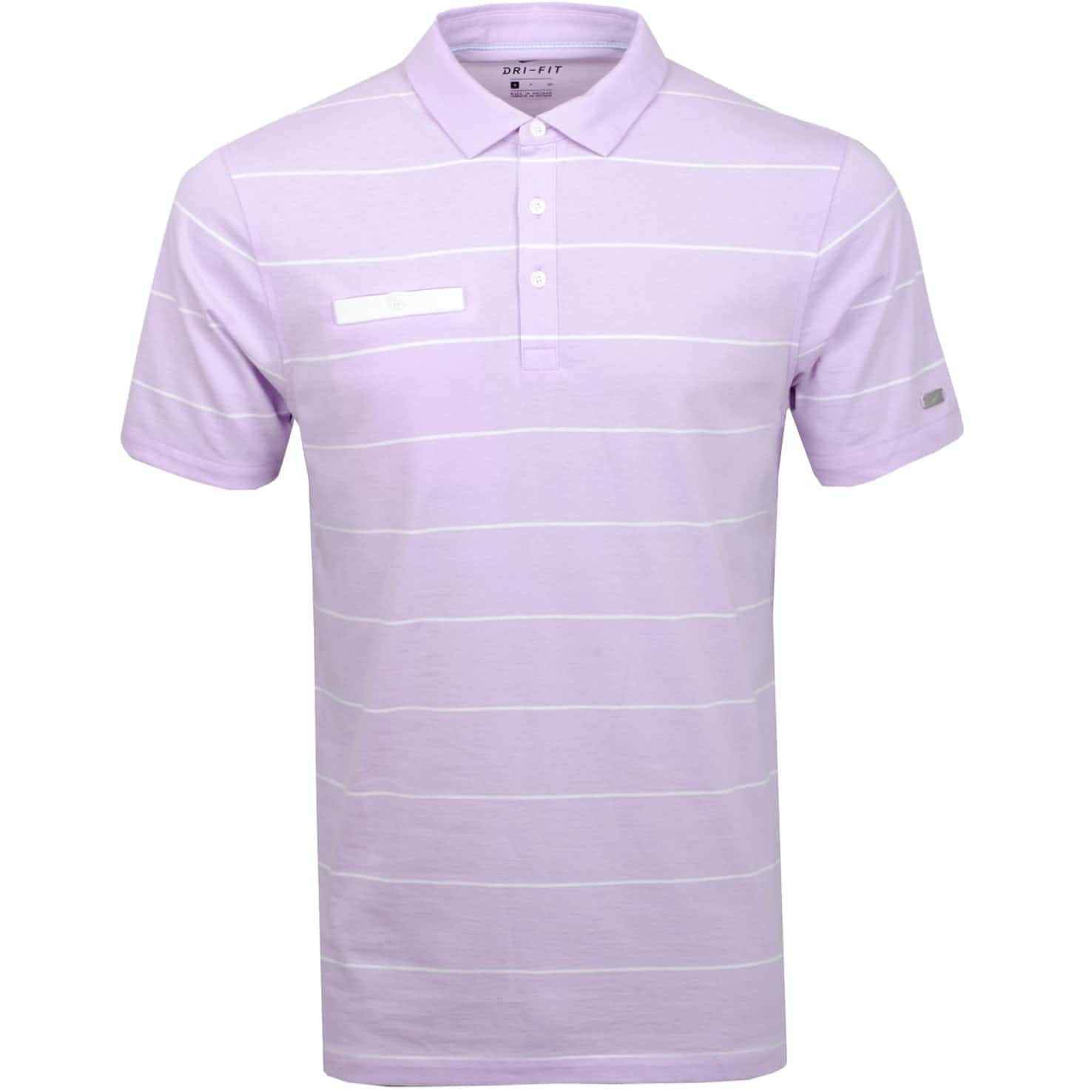 Dri-Fit Player Stripe Polo Lilac Mist/Sail/White - Summer 19
