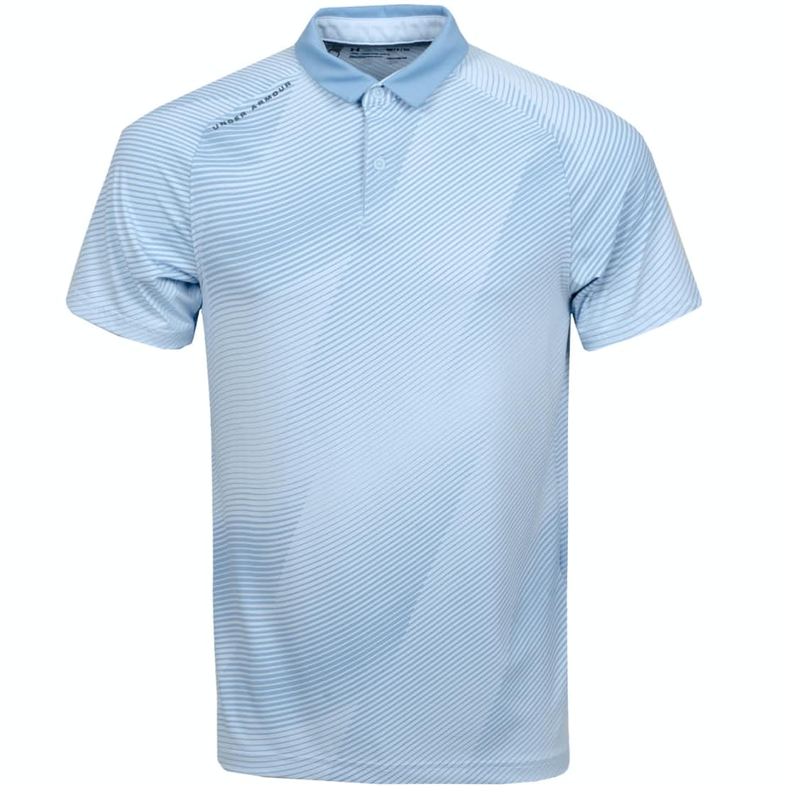 Iso-Chill Drop Zone Polo Coded Blue/Pitch Grey - SS19