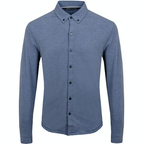 Linksoul Dry Tech Full Button LS Polo Dawn Heather - SS19